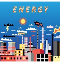 Industry power background vector image