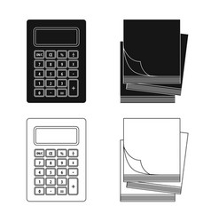 Isolated object of office and supply sign set of vector