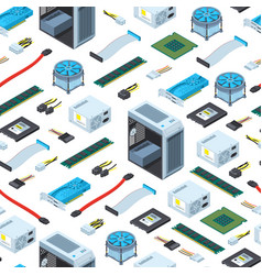 Isometric electronic devices background vector