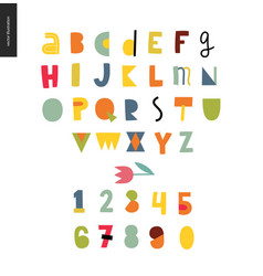kids flat alphabet set vector image