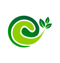 letter e leaf vector image