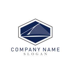 Logo bridge vector