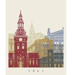 Oslo skyline poster vector