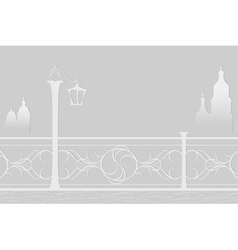 Paper postcard with cityscape vector