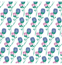pattern of rose flowers nature vector image