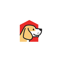 Pet dog house logo icon vector