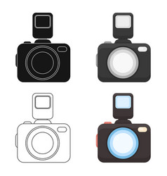Photo camera icon of for web vector