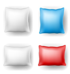 Pillow set vector image