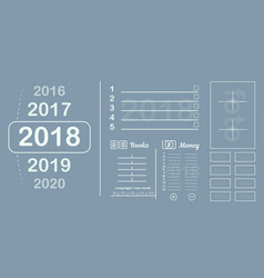 plan the sheet goals and plans for the year vector image