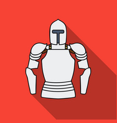 Plate armor icon in flat style isolated on white vector