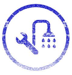 Plumbing grunge textured icon vector