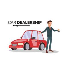Professional car dealer happy professional vector