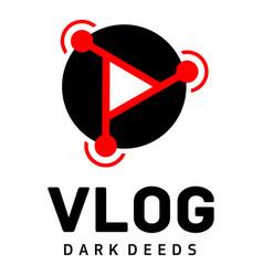 Radio vlog logo flat style vector