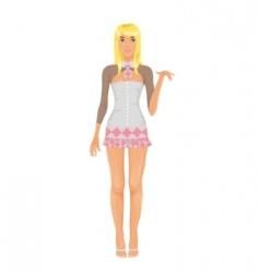schoolgirl costume vector image