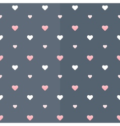 Seamless pattern with white and pink hearts vector