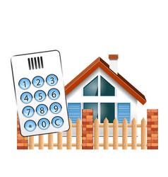 Security alarm for house vector