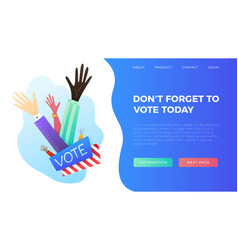 set hand draw hands voting concept vector image