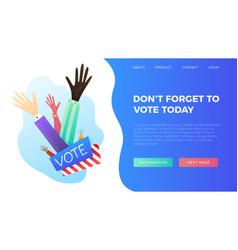 Set of hand draw hands voting concept vector