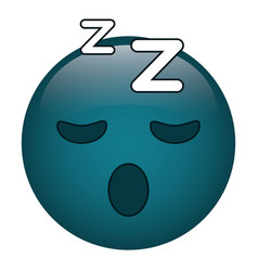 sleepy emoticon funny icon vector image