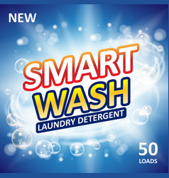 Smart clean soap banner ads design laundry vector
