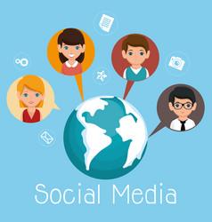 Social media community characters vector