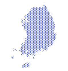 South korea map population demographics vector