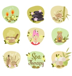 Spa flat icons vector
