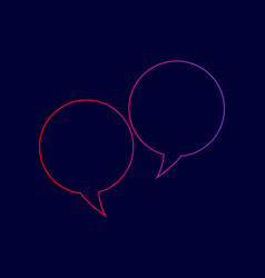 speech bubble sign line icon with vector image