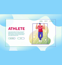 sport activities flat vector image