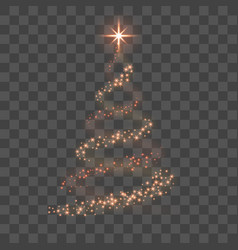 stylized red christmas tree as symbol of happy new vector image