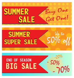 summer sale banners vector image