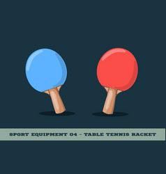 table tennis racquet icon game equipment vector image