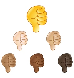 thumbs down hand sign emoji vector image vector image