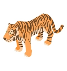 Tiger icon cartoon style vector