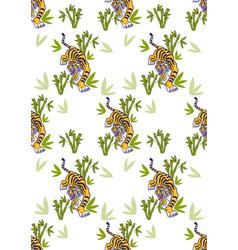 Tiger set pattern vector