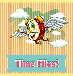 Time flies vector image