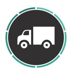 Truck computer symbol vector image