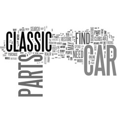 Where to find classic car parts text word cloud vector
