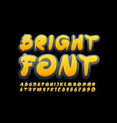 yellow and black bright font vector image