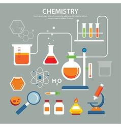 chemistry background education concept flat design vector image