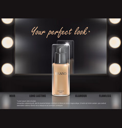 colorstay make-up in elegant packaging on a vector image