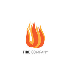 fire flame company logo template vector image vector image