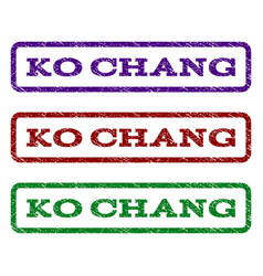 ko chang watermark stamp vector image