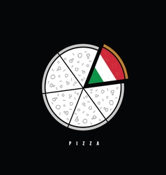 pizza in colorful vector image vector image