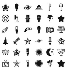 spotlight icons set simple style vector image vector image