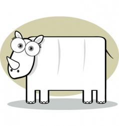 square animal rhino vector image vector image