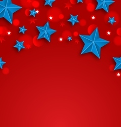Stars Background for American Holidays Place for vector image