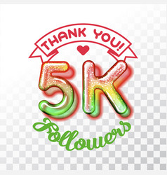 thank you 5k followers vector image vector image
