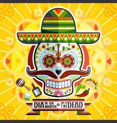 Dia de los muertos day of the dead skull vector