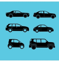different type of cars vector image